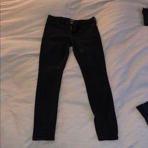 Mid rise black jeans